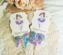 Lavender Ballerina Tutu Centerpiece Picks - Set of 3 - Little Baby Girl Ballerina Birthday Party - Two Fancy