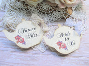 Bridal Tea Shower Corsage Pin