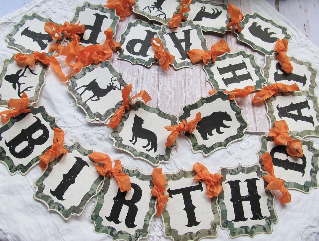 Camo Birthday Banner Garland - 84