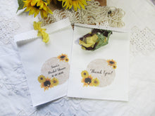 Bridal Shower Sunflower Decorations - Banner Garland - Cupcake Toppers - Favor Gift Tags - Place Cards - Favor Bags - Drink Straws - Corsage