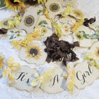 It's a Girl Sunflower Baby Shower Decorations Vintage Style