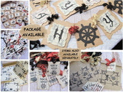 Pirate Party Rustic Birthday Decorations - Ahoy!