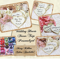 Personalized Vintage Style Heart Wedding Favor Tags