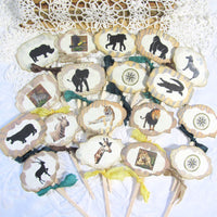 Safari Jungle Zoo Wild Animal Party Decorations - Personalized Banner