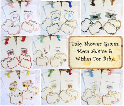Baby Shower Games Mom Advice Wishes for Baby