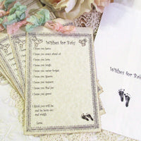 Vintage Style Baby Shower Mom Advice Games Baby Wishes & Shower Game Prizes