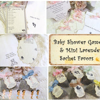 Vintage Style Baby Shower Games