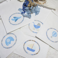 It's a Boy Blue Plaid Baby Shower Decorations Package Set