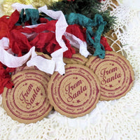 Christmas Rustic Gift Tags with ribbons - Merry Little Christmas