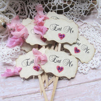 Alice in Wonderland Pink Tea Party Decorations with Custom Name Banner