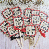 Buffalo Plaid Baby Shower Decorations Package Bundle Set - Its a Boy