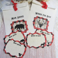 Buffalo Check Plaid Baby Shower Decorations - Forest Animal Lumberjack
