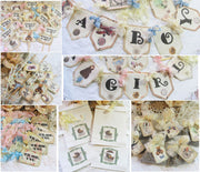 Shabby Floral Vintage Baby Shower Decorations Package Kit Bundle -  It's a Girl  Boy Sweet Baby