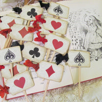 Alice Happy Unbirthday Birthday Party Package Bundle Set - Mad Tea Party Red Hearts