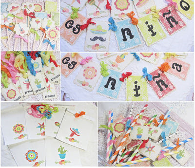 Fiesta Mexican Baby Shower Decorations Package Kit Bundle Es Nino or Es Nina