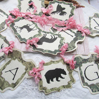 It's a Girl Pink & Camo Baby Shower Package Kit Bundle -  Banner and Straws