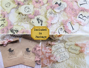 It's a Girl Pink Baby Vintage Shower Decorations Package Bundle Kit