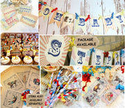 Vintage Circus Birthday or Baby Shower Decorations