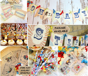 Circus Vintage Carnival Shower Decorations - Baby Shower or Birthday