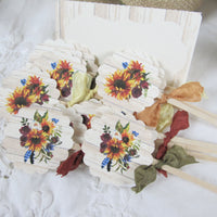 Sunflowers Rustic Autumn Fall Wedding or Bridal Shower Decorations Package