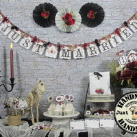 Gothic Red Roses Wedding Decorations