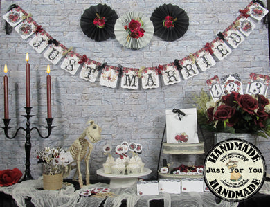 Gothic Roses Wedding Decorations Package Just Married