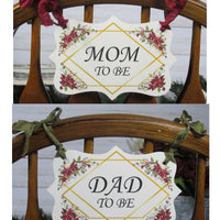 Poinsettia Floral Baby Shower Decorations - Its a Boy Girl Twins Winter Shower