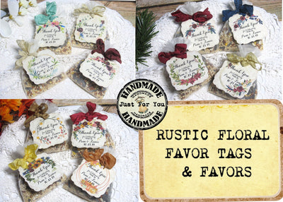 Personalized Bird Seed Favors
