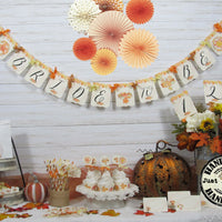 Leaves Pumpkins Fall Bridal Shower Decorations