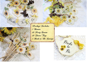 Bridal Shower Sunflower Vintage Rustic Style Decorations