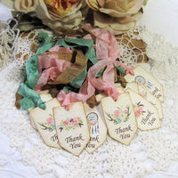 Baby Shower Favor Gift Tags with ribbons - Set of 18 - Choose your Theme Style