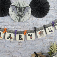 Halloween Baby Shower Banner
