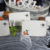 Halloween Baby Shower Buffet Place Cards
