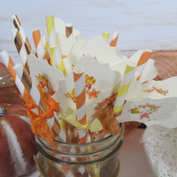 Leaves Pumpkins Bridal Shower Decorations Package Bride to Be Fall in Love