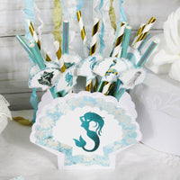 Mermaid Birthday Party Table Decorations - Custom Name Banner Garland