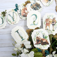 Woodland Forest Animals Baby Shower Watercolor Decorations