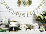 Greenery Gold Bridal Shower Engagement Decorations