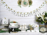 Greenery Gold Geometric Baby Shower Decorations