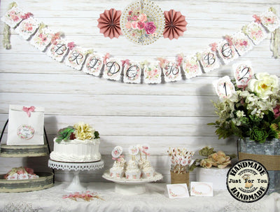 Blush Pink Roses Bridal or Baby Shower Decorations