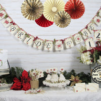 Poinsettia Winter Bridal Shower Decorations