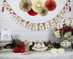 Poinsettia Bridal Shower Decorations Bride to Be Winter Floral Wedding