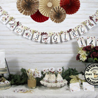 Winter Floral Baby Shower Decorations