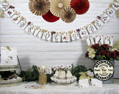 Winter Roses Bridal Shower Decorations Bride to Be She Said Yes