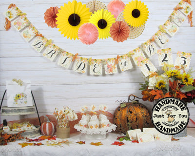 Sunflowers Pumpkins Fall Bridal Shower or Wedding Decorations