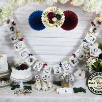 Burgundy Navy Bridal Shower Engagement Decorations