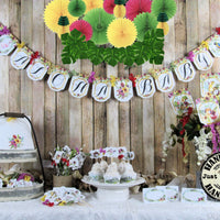 Aloha Tropical Luau Bridal or Baby Shower Table Decorations Package Set