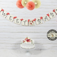Coral Gender Neutral Baby Shower Sign
