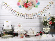 Vintage Roses Bridal Shower Tea Decorations