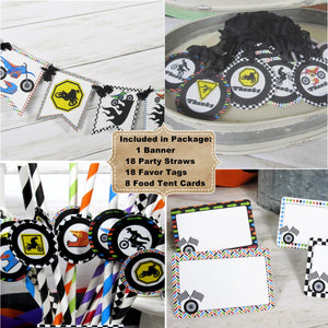 Motocross Dirt Bike Birthday Decorations - Name Banner