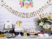 Spring Floral Baby Animal Shower Decorations Package
